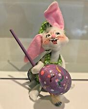 """New Annalee 6"""" Artist Bunny Rabbit Painter Easter Egg Paint Brush Eyes left"""