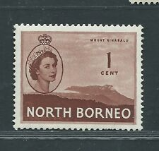 North Borneo unused Scott 261 Elizabeth II 1ct red brown OG H