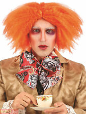 Adults Mad Hatter Wig Mens Ladies Alice Fairytale Fancy Dress Ginger Curly New