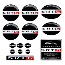 14pcs set SRT6 Original Chrysler Crossfire Karmann domed emblem decal stickers