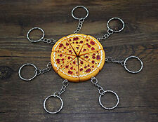 10pcs Pizza Pendant Key Chain Keyring Key Holder Purse Bag Charm Key Jewelry