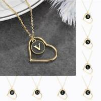 Fashion Pendant Necklace Personalised Letter A - Z GIFT Initial Alphabet HEART