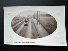 WIMBLEDON, RAILWAY FROM DURNSFORD ROAD BRIDGE - HUTCHINSON & CO (c1910)