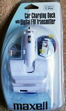 Maxell P-25 Car Charging Dock for IPod With Digital FM Transmitter P-25 NIB