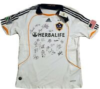 LA Galaxy Team signed NWT Adidas jersey w/ DAVID BECKHAM +19. Ready to frame