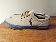 ce271a054bb POLO RALPH LAUREN Brown Low FAXON Ripstop Canvas Brown Rubber Sneakers Size  12D