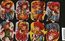 # GLANZBILDER # Krüger 171-279 groß / Bogen mit 7 Kinder - Bildern & Clown, RAR