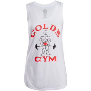 Gold's Gym Women's Classic Joe Racerback Tank Top - White