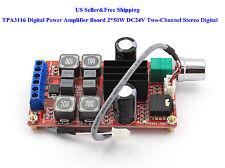 US TPA3116 Digital Power Amplifier Board 2*50W DC24V Two-Channel Stereo Digital