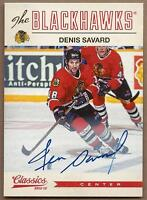 2012-13 Panini Classics autographed hockey card, Denis Savard Chicago Blackhawks