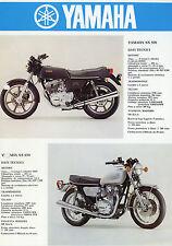 Prospekt 1978 Yamaha Ital. XS 500 650 RD DT 400 Motorradprospekt brochure Asien