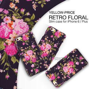 For Apple iPhone 6 Plus case cover 3D Vintage Flower Pattern Thin Fit Matte Back