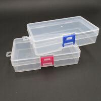 Small Plastic Transparent Case Jewelry Craft Nail Art Bead Storage Box Organizer