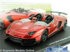 LAMBORGHINI AVENTADOR J MODEL CAR 1:43 SCALE RED IXO 2012 SUPER SPORTS K8