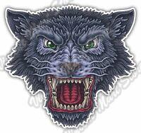"Wolf Head Canis Lupus Wild Animal Forest Car Bumper Vinyl Sticker Decal 5""X4"""