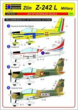 Kovozavody Prostejov 1/72 Zlin Z-242 L Militaire Décalques # EX020