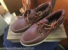 QUODDY WOMEN'S BOAT MOCCASINS - VINTAGE - NEW IN BOX - BUCK TAN- SIZE 5