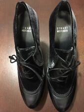 Stuart Weitzman Womens New Black Velvet Leather Ankle Heel Bootie Boots 8M