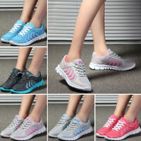 WOMENS MENS MESH TRAINERS FITNESS GYM WALKING SHOES LIGHTWEIGHT NON SLIP SIZE