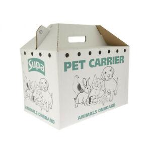Supa Cardboard Re usable Small Pet Carrier Medium 20cm x 33cm rabbit guinea pig