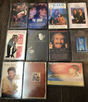 Vintage Rock/Pop / Country Cassette Tapes- Lot Of 11 Willie Nelson The Judds Mor