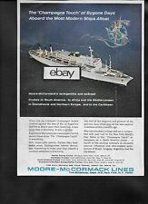 MOORE MCCORMACK LINES CRUISE SS ARGENTINA 1964 CHAMPAGNE TOUCH BYGONE DAYS AD