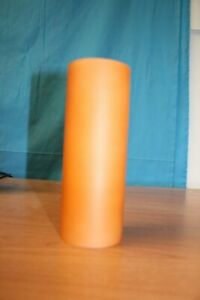 Orange glass tube light cylinder with internal white flash glass