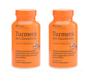 2 Bottle RX Select Nutraceuticals Turmeric Curcumin Root & Extract 1000mg 90 Cap