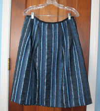 Felicia and Company Blue Striped Full Skirt Wear to Work Career sz 10