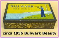 BULWARK CUT PLUG (BIG) 1LB Tobacco Tin 🚬 C 1956 🚬 Lovely Condition ✔️✔️✔️