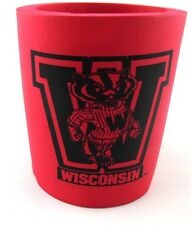 University of Wisconsin BADGERS Red Can Bottle Koozie Keeps Drinks Cold