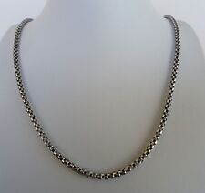 925 STERLING SILVER SOLID MEN'S BOX CHAIN/  30'' LONG/LOBSTER LOCK/TOP QUALITY