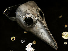 Leather art Plague Doctor's mask burning steampunk comicon man custom