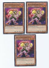 X3 YUGIOH BATTLIN' BOXER RABBIT PUNCHER SHSP-EN007 COMMON IN HAND