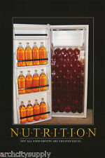 POSTER :COMICAL : BEER - NUTRITION - NOT ALL FOOD GROUPS - FREE SHIPPING!  LW6 M