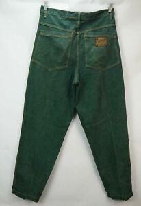 Vintage Karl Kani Jeans Brass Plate Green Rare Size 36 x 34