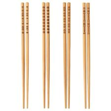 IKEA 4 Pairs Bamboo Chopsticks - 25 Cm Length - Asian Japanese Korean Noodles