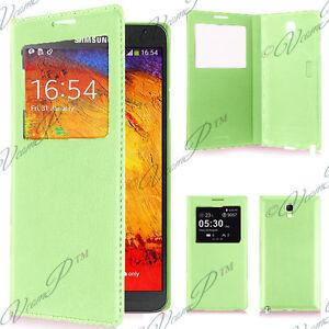 Housse etui coque plastique View Case Samsung Galaxy Note 3 Neo N7505 7502 Vert