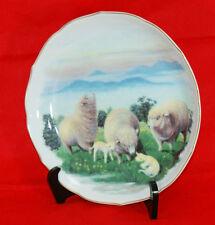"Auspicious plate by Fukagawa Seiji porcelain of Arita in Japan ""Sheep""#1285"