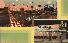 Savannah GA White House Restaurant LINEN Postcard