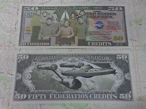 50 Federation Credits STAR TREK = Kirk ~ Fun Million Dollars ~ Gene Roddenberry