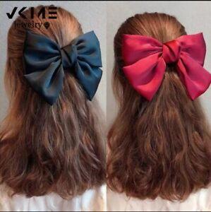 Fashion Big Bow Hairpin Cute Red Barrette Pink Hair Clip Women Girls BB Hairgrip