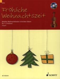 Fröhliche Weihnachtszeit für 1 - 2 Violinen leicht - PORTOFREI VOM FACHHÄNDLER