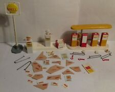 1960s CORGI KITS 609 Filling Station Accessories incomplete spares/repair SHELL