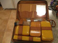 Vintage Retro Travel Kit in Case