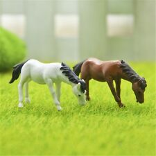 2Pcs/Set Cute Cartoon Horse Micro Landscape Fancy Fairy Garden Miniatures
