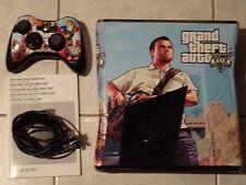 Microsoft Xbox 360 S 250 GB Matt Schwarz Spielekonsole (PAL), GTA V Design