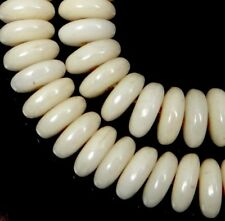 50 Czech Glass Rondelle Beads - Opaque - Luster Champagne 6x2mm
