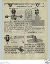 1924 PAPER AD Motometer Radiator Caps Weed Parts Repair Lists