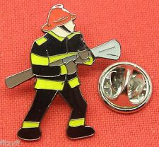 Fireman Lapel Hat Tie Cap Pin Badge Firefighter Fire Fighter Service Man Brooch